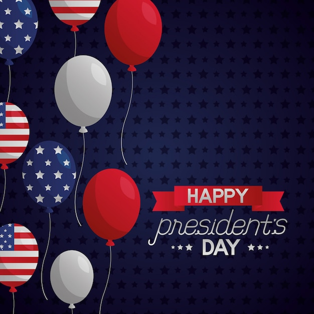 Happy presidents day Free Vector
