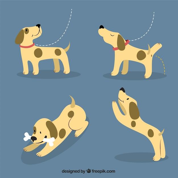 Happy puppy illustration Free Vector