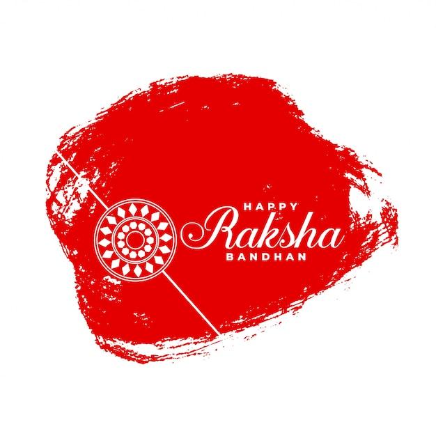 Felice raksha bandhan astratto sfondo rosso Vettore gratuito