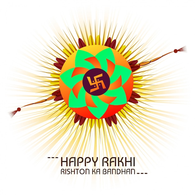 Happy raksha bandhan celebration greeting card Free Vector
