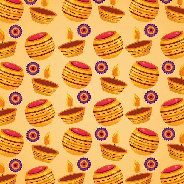幸せなラクシャバンダンのお祝いのシームレスなパターン 無料ベクター