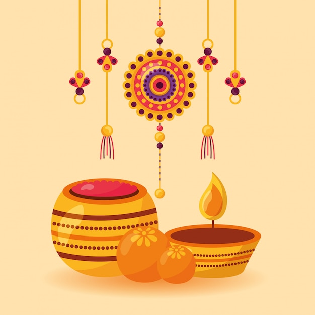 Happy raksha bandhan celebration Free Vector
