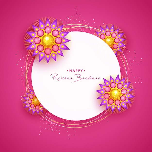 Happy raksha bandhan greeting card with rakhi vector premium download happy raksha bandhan greeting card with rakhi premium vector m4hsunfo