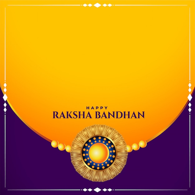 Happy raksha bandhan traditional festival card with text space Free Vector