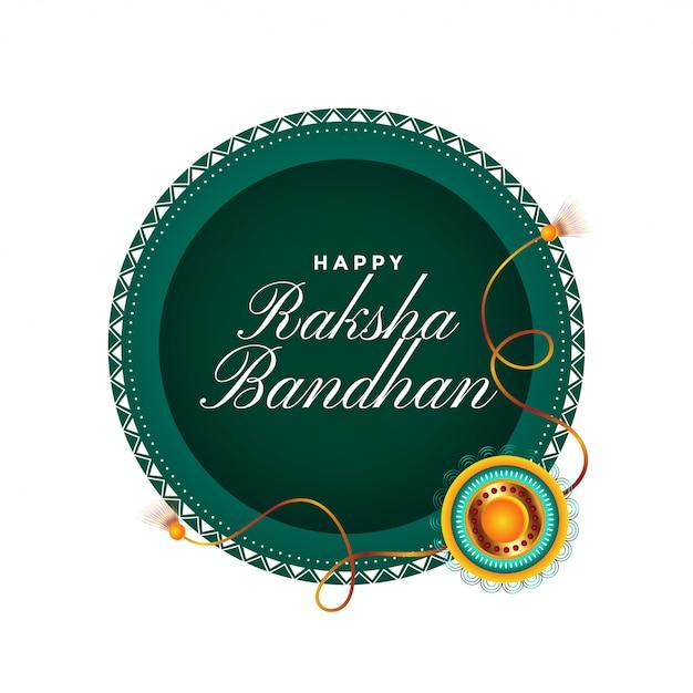 Carta di festival tradizionale felice raksha bandhan Vettore gratuito