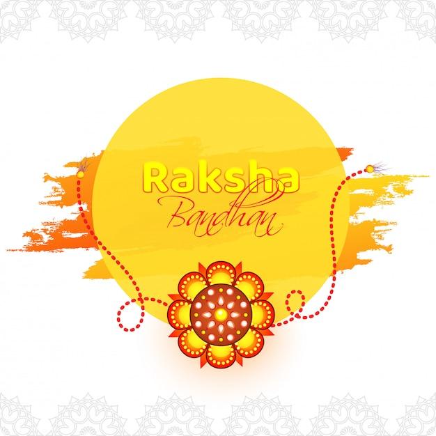 Happy raksha bandhanお祝いの背景。 Premiumベクター