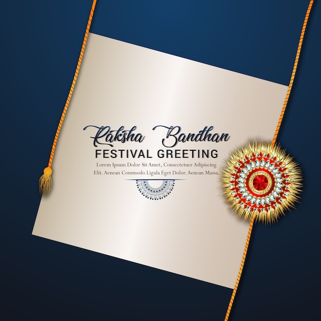 Happy raksha bandhanの祝典のコンセプト Premiumベクター
