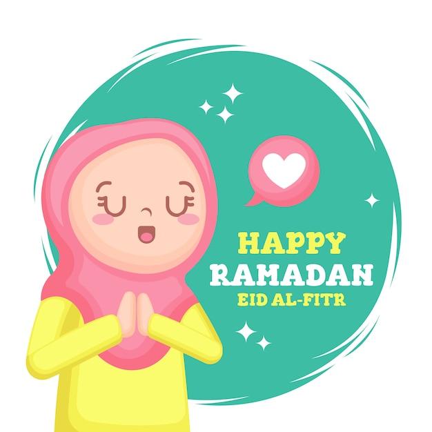 Happy ramadan Premium Vector