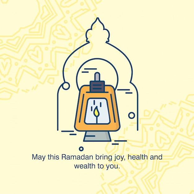 Happy ramdan typogrpahy with elegent design vector Premium Vector