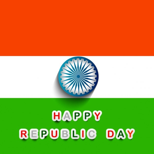 Happy Republic Day Background Vector Free Download