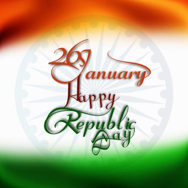 Happy Republic Day Card Vector Free Download