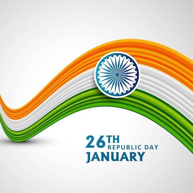 Happy republic day in india Free Vector