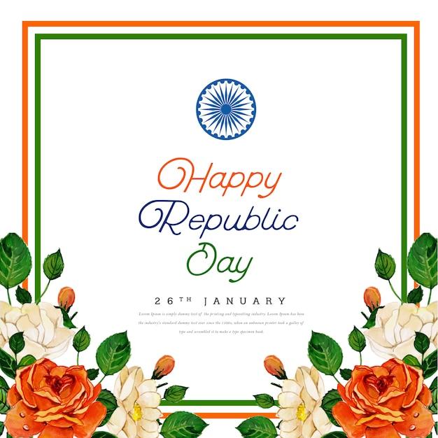 Happy republic day indian festival background Premium Vector