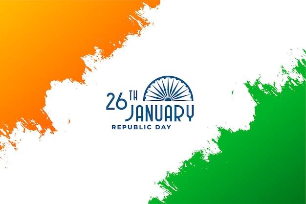 Счастливый день республики индии 26 января дизайн Бесплатные векторы