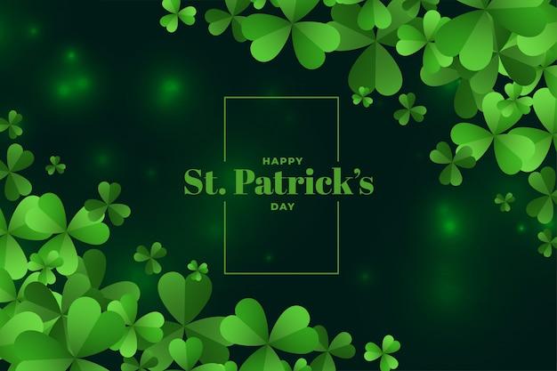 Happy saint patricks day festival background Free Vector