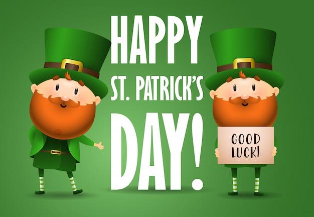 Happy saint patricks day  invitation design Free Vector