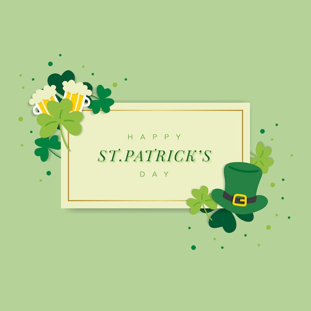 Happy saint patricks day Free Vector