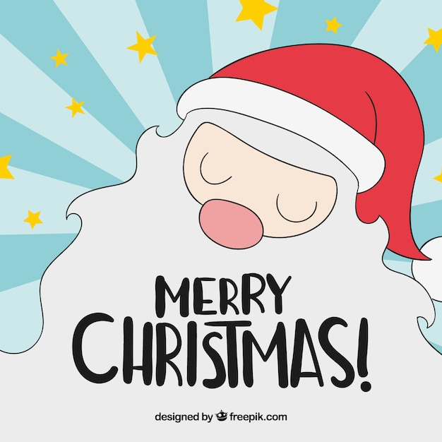 Happy santa claus with hand drawn style