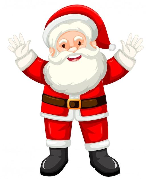 Happy santa white background Free Vector