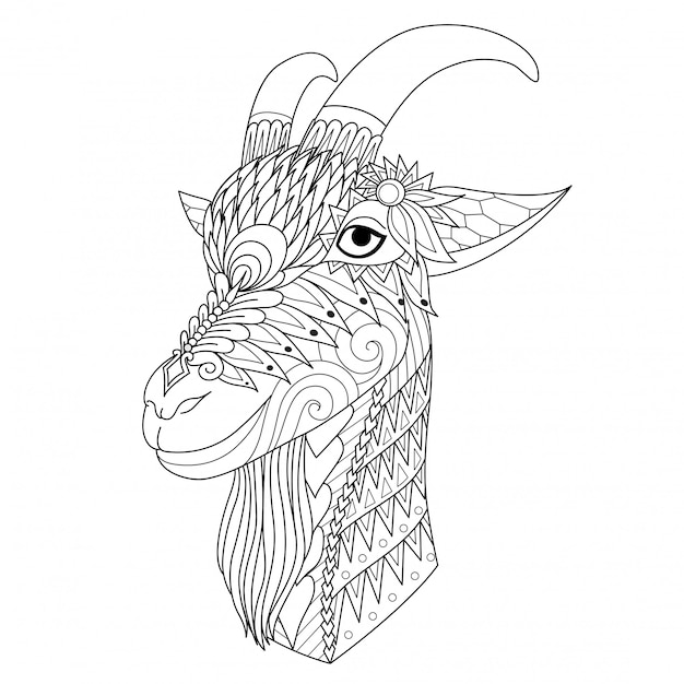 幸せな羊 Premiumベクター