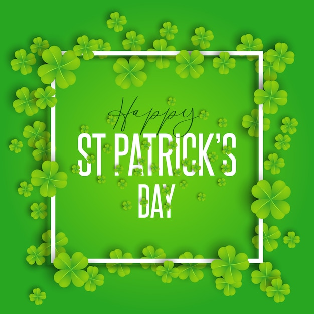 Happy st patrick's day background Free Vector