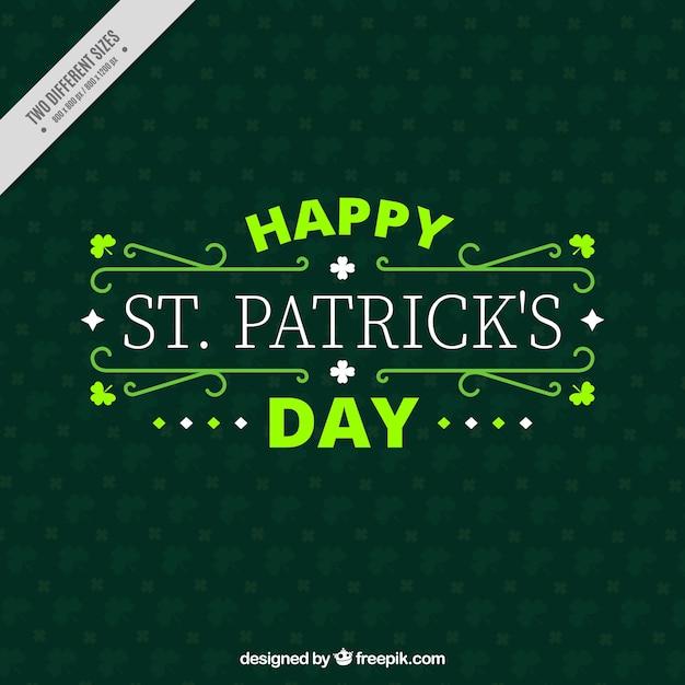 Happy St Patrick S Day Decorative Background Vector