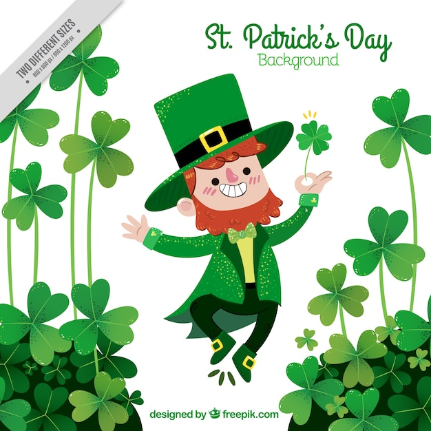 happy st patrick s day elf background vector free download