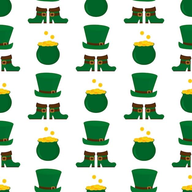 Happy st.patrick s day seamless pattern illustration Premium Vector
