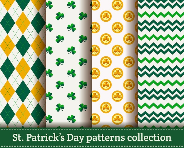 Happy st. patrick's day! seamless pattern Premium Vector