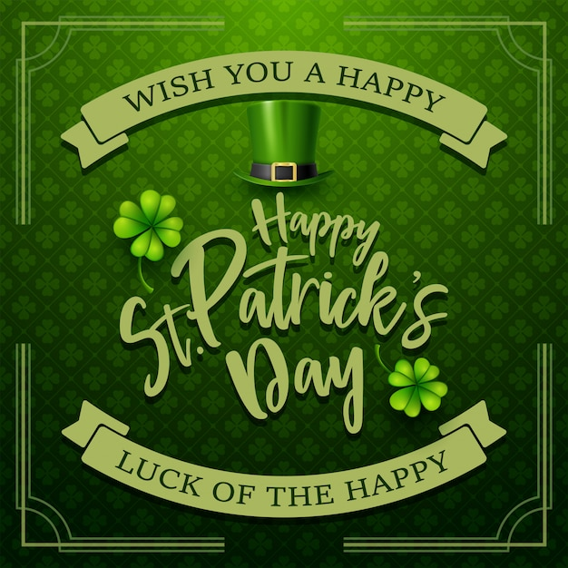 Happy st. patrick's day typography Premium Vector
