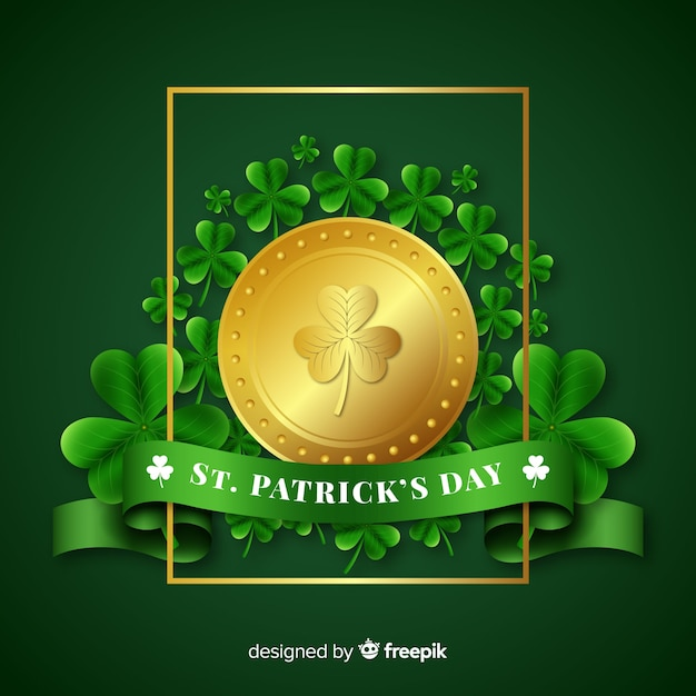 Happy st. patrick's day Free Vector