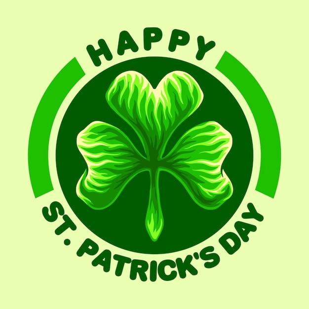Happy st patricks day logo illustrations Premium Vector
