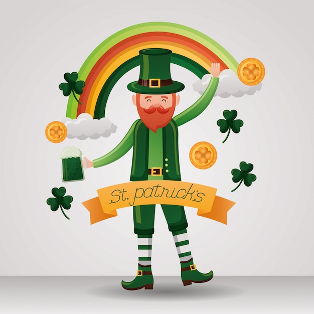 Happy st patricks day Free Vector