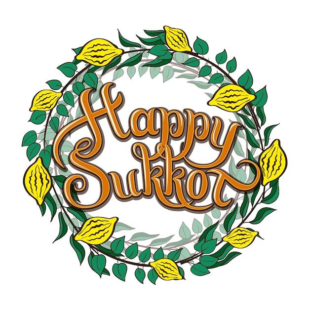 Happy sukkot jewish holiday greeting card vector premium download happy sukkot jewish holiday greeting card premium vector m4hsunfo