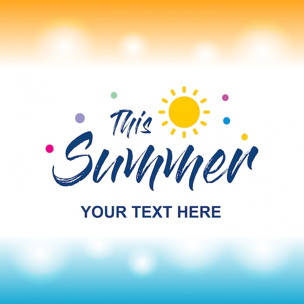 Happy summer greetings card with light background vector vector happy summer greetings card with light background vector premium vector m4hsunfo