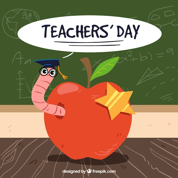 Happy teacher's day, an apple