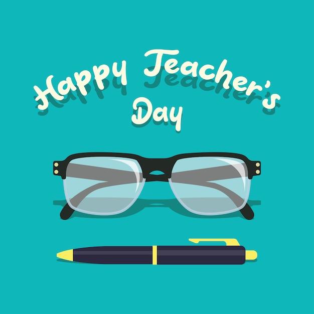 Happy teacher's day concept Premium Vector