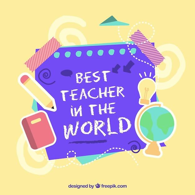 Happy teacher's day, elements of the school