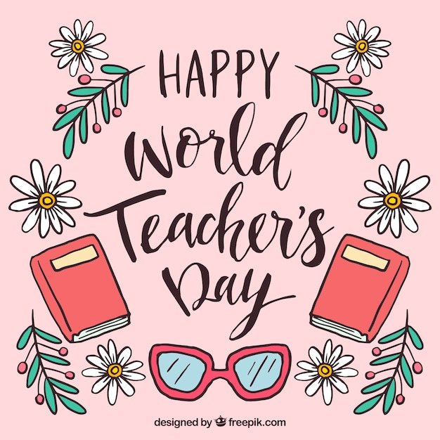 Happy teacher\'s day, hand-drawn