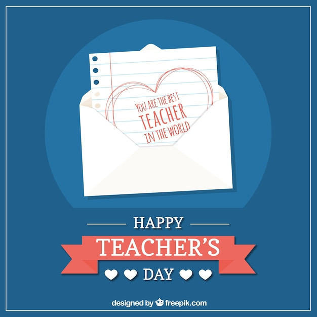 Happy teacher's day, nice note