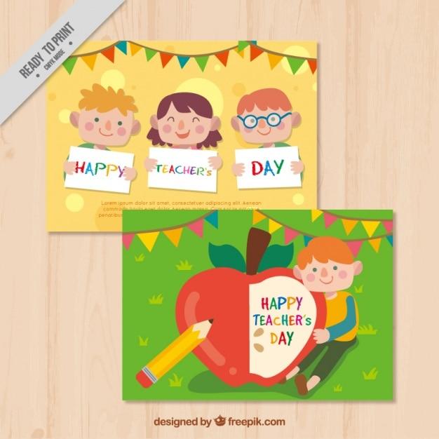 Happy teachers day card