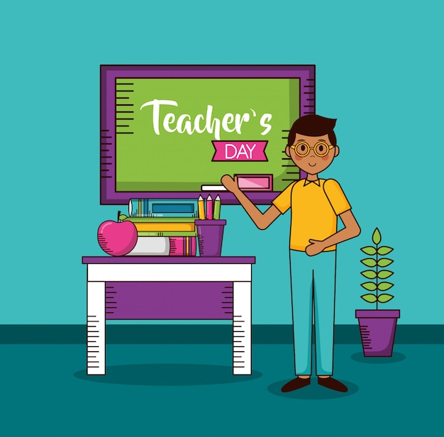happy teachers day card vector  free download