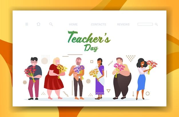 Счастливый день учителя праздник праздник Premium векторы
