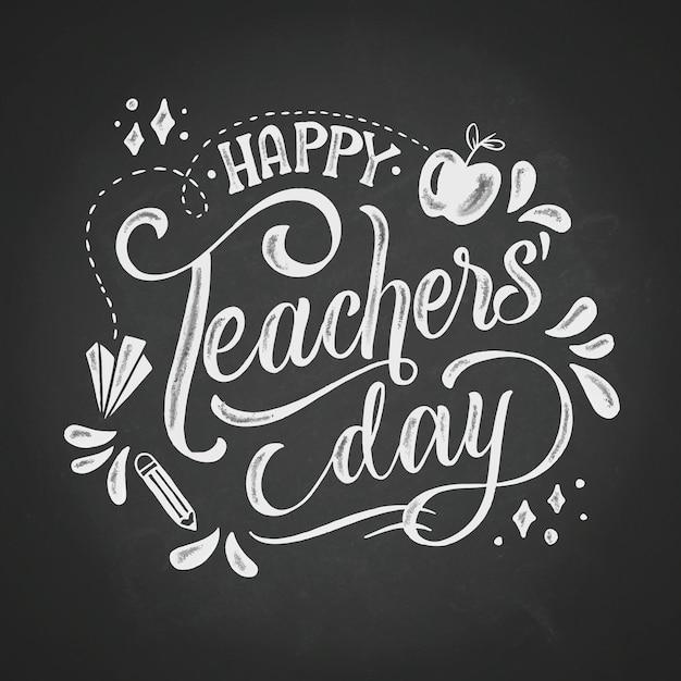 Buona giornata degli insegnanti Vettore gratuito