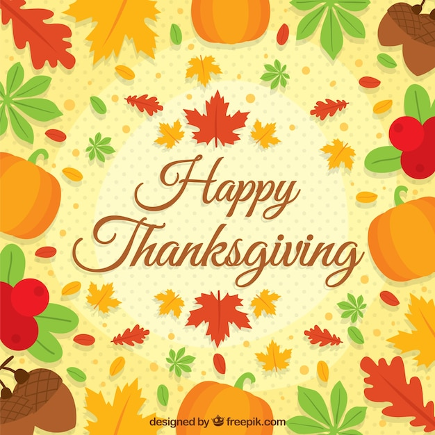 Happy thanksgiving background. With autumn leaves vector