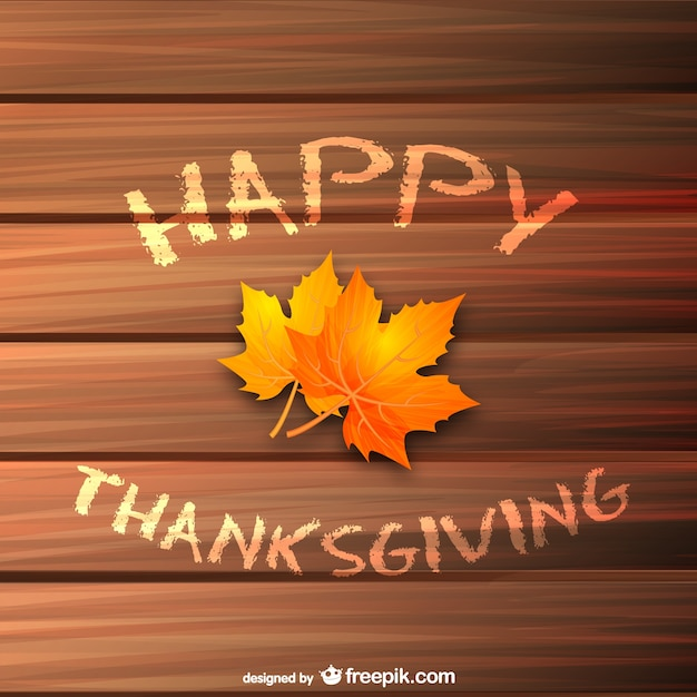 happy thanksgiving background with leaves vector free download