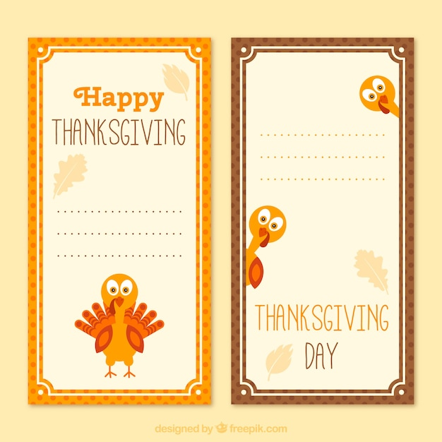 Happy Thanksgiving Banners Template Vector Free Download