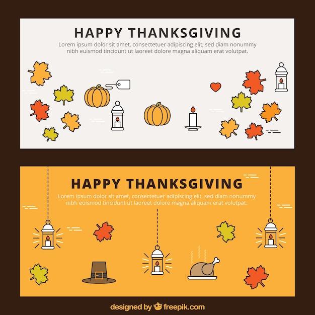 Happy thanksgiving banners vector premium download for Happy thanksgiving banners