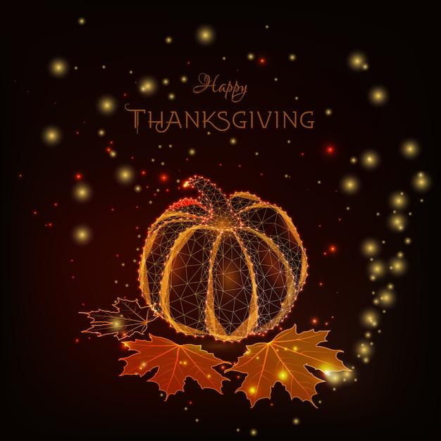 Happy thanksgiving card Premium Vector