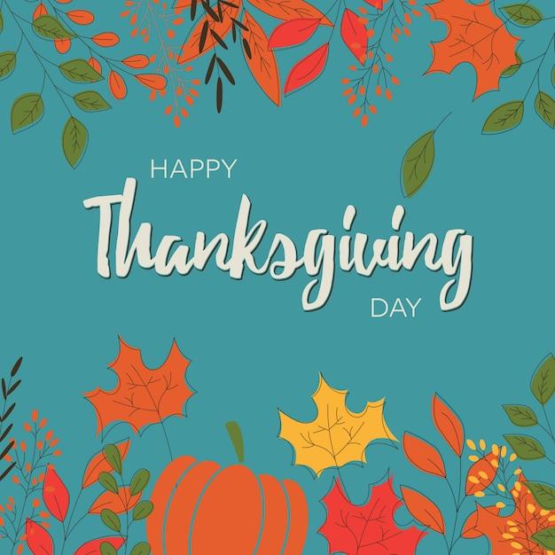 Happy thanksgiving day card Premium Vector